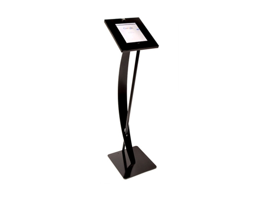iPad Floorstand Curved Black rental